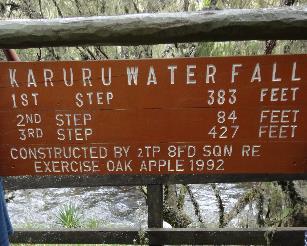 3 day Karuru waterfall