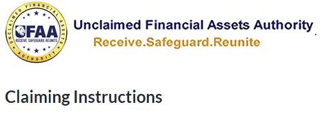 Do you have unclaimed assets?